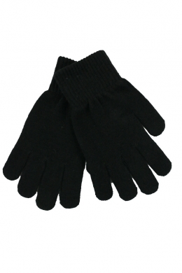 Knitted Stretch Gloves Black