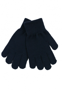 Knitted Stretch Gloves Navy