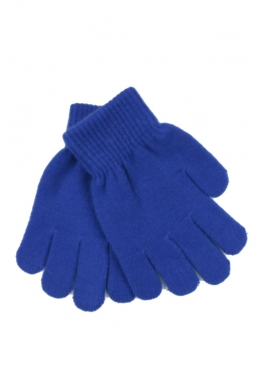 Knitted Stretch Gloves Royal