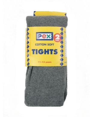 Super Soft Cotton Rich Tights 2 pack Grey