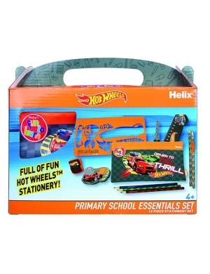 Hot Wheels Primary School Stationery Set - 12 Piece