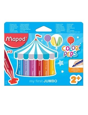 Color'Peps My First Jumbo Wax Crayons 12pk