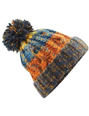 Beechfield Junior Corkscrew Beanie Retro Blues