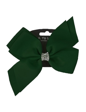 Jo Jo Hair Bow Bottle Green