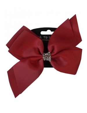 Jo Jo Hair Bow Maroon