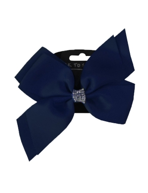 Jo Jo Hair Bow Navy