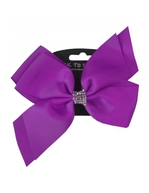 Jo Jo Hair Bow Purple