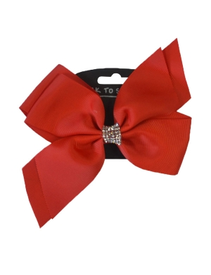 Jo Jo Hair Bow Red