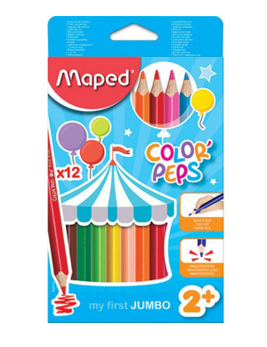 Color'Peps My First Jumbo Colouring Pencils 12pk