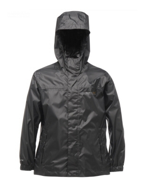 Regatta Kids Pack-It Waterproof Jacket Black