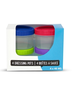Locksy Ultraclip Dressing Pots 4 x 40ml