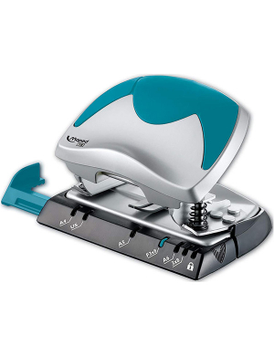 Ergologic Hole Punch 15-20 Sheets Turquoise