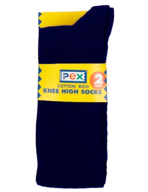 Knee High Socks 2 pack Navy