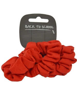 Jersey Scrunchie 3pk Red