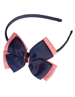 Opal Alice Band Navy and Pink