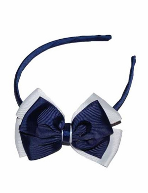 Opal Alice Band Navy and White