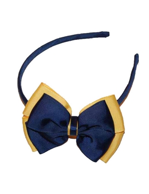 Opal Alice Band Navy and Yellow