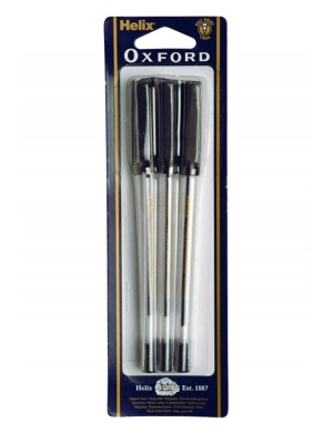 Oxford Range Ball Point Pen 6pk Black