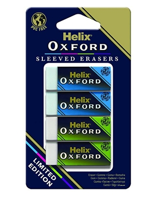 Oxford Colours Erasers Blue/Green 4pk