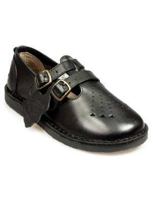 Marley Leather Strap-Up Junior Shoe
