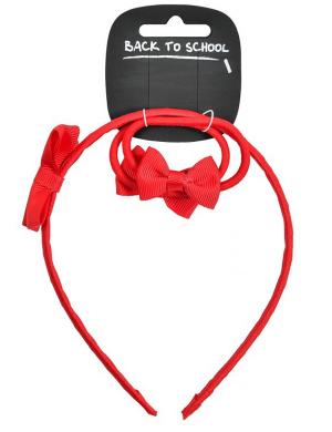 Bow Alice Band Red
