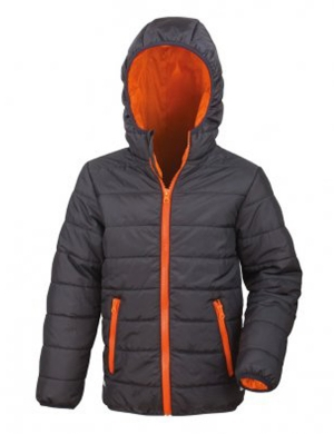 Padded Jacket RS233B Black/Orange