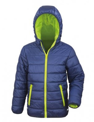Padded Jacket RS233B Navy/Lime