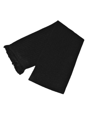 Ribbed Scarf Black
