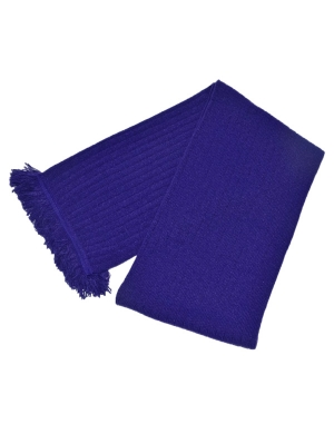 Ribbed Scarf Purple