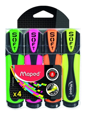 Fluo'Peps Ultra Soft Highlighters 4pk