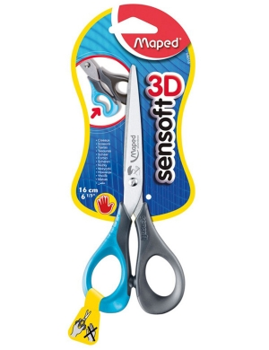 Sensoft 3D LEFT-HANDED Scissors 16cm Blue