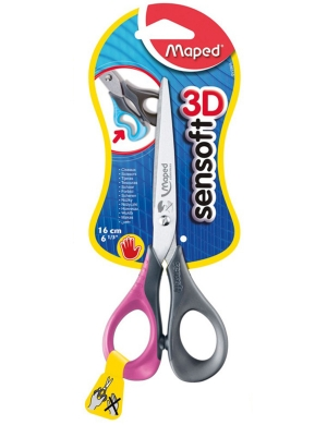 Sensoft 3D LEFT-HANDED Scissors 16cm Pink