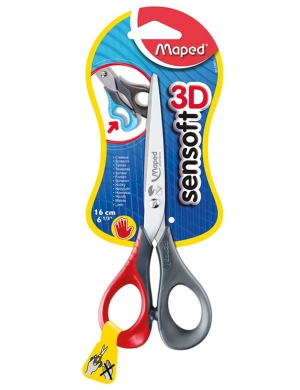 Sensoft 3D LEFT-HANDED Scissors 16cm Red