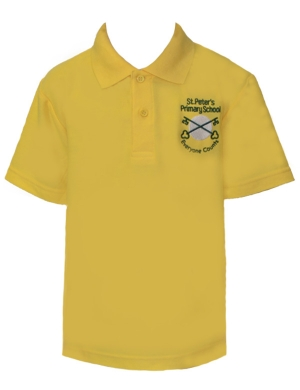 St. Peter's Primary Polo Shirt Gold