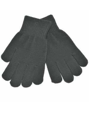 Knitted Stretch Gloves Grey