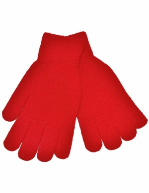 Knitted Stretch Gloves Red