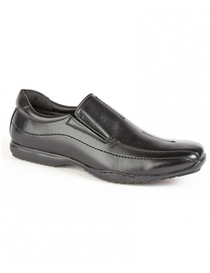 Stud PU Slip On Senior