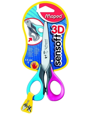 Sensoft 3D LEFT-HANDED Scissors 13cm Blue/Pink