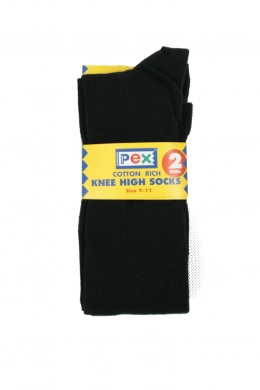 Knee High Socks 2 pack Black