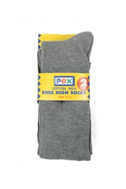 Knee High Socks 2 pack Grey