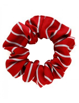 Red & White Scrunchie 1pk