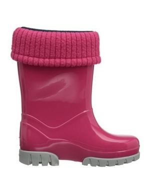 Term Footwear Roll Top Wellington Boots Pink