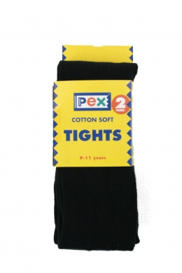Super Soft Cotton Rich Tights 2 pack Black