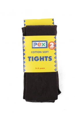 Super Soft Cotton Rich Tights 2 pack Brown