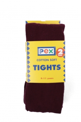 Super Soft Cotton Rich Tights 2 pack Maroon
