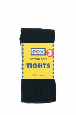 Super Soft Cotton Rich Tights 2 pack Navy