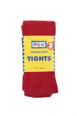Super Soft Cotton Rich Tights 2 pack Red
