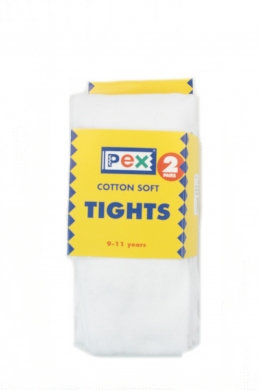 Super Soft Cotton Rich Tights 2 pack White