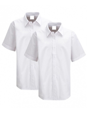 Trutex Girls Short Sleeve Blouse White 2 pack