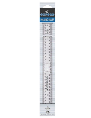 Oxford Vintage Folding 30cm Ruler